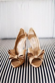 golden Valentino bridal shoes