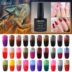 Elite99 UV Nagellack Thermo Farbwechsel Nail Gel Polish Nagelgel Thermolack Art