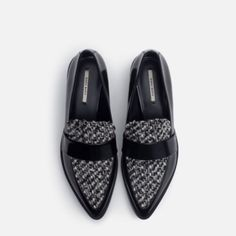 Zara Combined Fabric Loafers