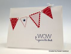 Stampin' Pretty IMG_4354-002  Petite Pennants Builder Punch and coordinating Pennant Parade stamp set help this clean and simple card by Susan Lankford