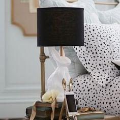 The Emily & Meritt White Bunny Table Lamp #PBteen