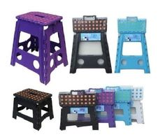 Plastic Folding Step Stool Ladders Diy Stools Collapsible/foldable Multipurpose