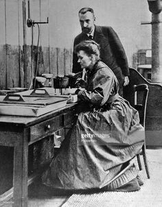Personalities, Medicine, Science/Health, pic: circa 1903, Marie Curie, (Polish born French Physicist) 1867-1934, pictured with her husband Pierre in the laboratory, Marie Curie won the 1903 Nobel Prize for Physics with husband Pierre and after his death in 1906 she won the 1911 Nobel Prize for Chemistry