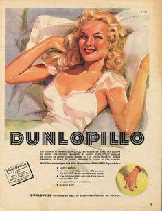 Publicité Dunlopillo 1951- #retro #pub #vintage