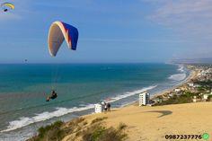 Paragliding Crucita Ecuador  Flying in the beaches.