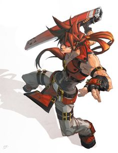Here's another fan art since im not yet good enough to come up with orignal characters -_- Sol Badguy Xrd Character Concept, Character Art, Concept Art, Illustration Art Drawing, Character Illustration, Manga, Guilty Gear, Gear Art, Boy Poses