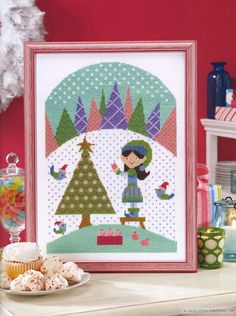 Tree Decorator Elf, the Cross Stitch version by EyeCandy Needleart