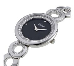 Buy Seksy Ladies Black Dial Stainless Steel Bracelet Watch at Argos.co.uk, visit Argos.co.uk to shop online for Ladies' watches, Watches, Jewellery and watches