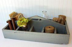 Vintage Wood Tool Caddy // Toolbox // Carrier  by JulesTresors, $60.00