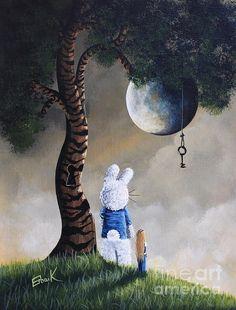 Alice In Wonderland Artwork - Fairytale Paintings Print by Shawna Erback