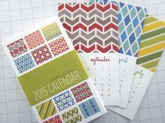 Modern Patterns Series I Mini 2015 Calendar por monkeymindesign