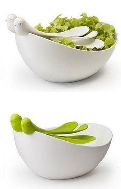 cucharas y ensaladera