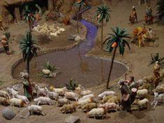 Shepherd and flock Christmas Nativity Scene, Christmas Makes, Christmas Villages, Rustic Christmas, Christmas Crafts, Christmas Decorations, Xmas, Mexican Christmas Traditions, Paper Palm Tree