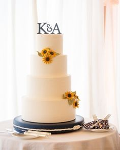 Simple Tiered Wedding Cake