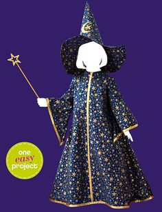 Childs witch / wizard costume  Simplicity sewing by Iam4uk, $2.95