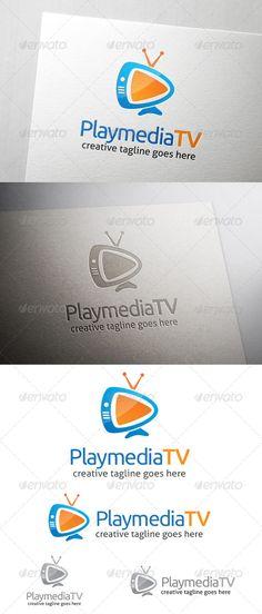 Play Media TV  - Logo Design Template Vector #logotype Download it here: http://graphicriver.net/item/play-media-tv-logo/7201516?s_rank=1679?ref=nexion