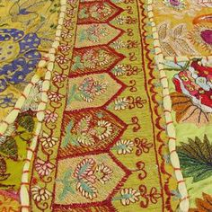 Embroidered Patchwork Floor Tapestry