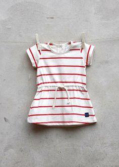 EM Ellen Dress Children Offwhite/Red - emma och malena