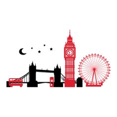 Tower Bridge clipart london city - pin to your gallery. Explore what was found for the tower bridge clipart london city London Skyline Silhouette, London Skyline Tattoo, Skyline Von London, London Tattoo, London Icons, London Eye, London City, Modern Wall Decals, Silhouette Tattoos