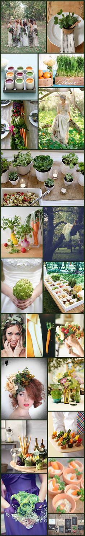 Wednesday Wedding Inspiration: Earth & Vegetable Garden – Bespoke-Bride: Wedding Blog