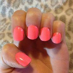 short pink but cute nails