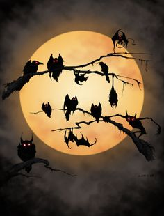 Image uploaded by ༄𝕾𝖆𝖓𝖉𝖗𝖆༄. Find images and videos about dark, moon and Halloween on We Heart It - the app to get lost in what you love. Retro Halloween, Halloween Pictures, Halloween Crafts, Happy Halloween, Halloween Decorations, Halloween Moon, Halloween Artwork, Halloween Night, Halloween Window Silhouettes
