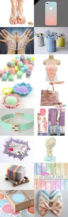 Fabulous Pastels by Mayura on Etsy--Pinned with TreasuryPin.com