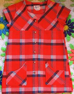 Plaid Mini Dress 6X by lishyloo on Etsy, $15.00
