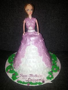 A barbie theme cake done for a sweet lil princess