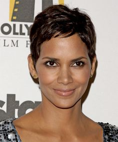 halle berry haircut | Halle Berry Hairstyle - Casual Short Straight Hairstyle - 11104 ...