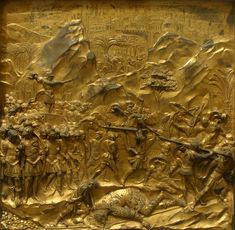 David and Goliath, PANEL 9, 1425-52 Gilded bronze, 79 x 79 cm Baptistry, Florence