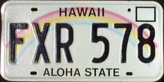 Hawaii License Plate Current Issue