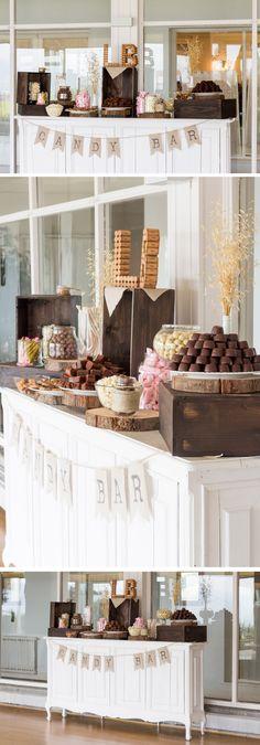Candy bar rústico, con madera, handmade. Para la boda de Lucía y Beñat en el Hotel Gudamendi. #candybar, #handmade, #wedding, #rusticwedding