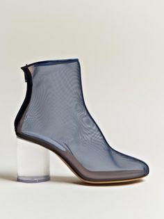 Maison Martin Margiela boots with round acrylic heel.