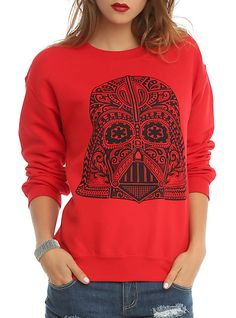 Star Wars Day Of The Dead Darth Vader Girls Pullover | Hot Topic