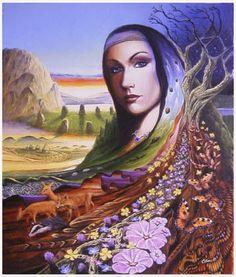 "'Bridget'  -  Nature Goddess by Alan Reed    ""'Bridget' - Nature Goddess""    http://www.epilogue.net/cgi/database/art/view.pl?id=114895"