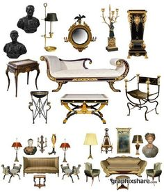 classic collection of roman furniture - Bing Images