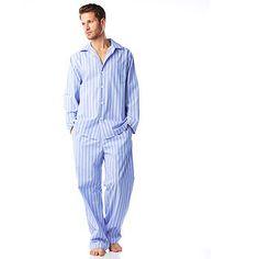Men s Cotton Blue And White Stripe Pyjamas 85a746fb0