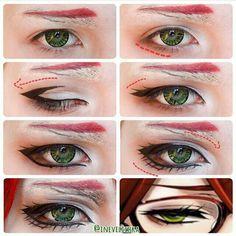 Grell anime eyes