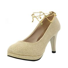 24.99  Women s Shoes Suede Spring Summer Fall Stiletto Heel for Wedding  Red Gold 31e29630a4ec
