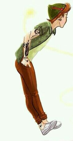 Louis as peter pan....