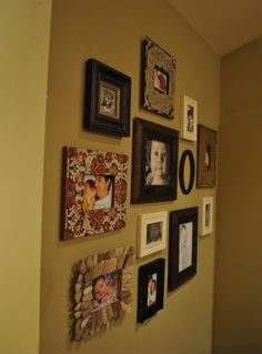 frames with lots of different finishes & textures in an arrangement, but it still works.