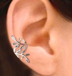 Laurel leaf ear cuff.