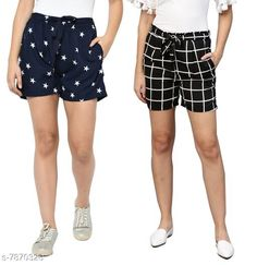 Shorts My Swag Women Combo Of 2  Regular Shorts Fabric: Crepe Pattern: Printed Multipack: 2 Sizes:  28 (Waist Size: 28 in Length Size: 25 in)  30 (Waist Size: 30 in Length Size: 25 in)  32 (Waist Size: 32 in Length Size: 25 in)  34 (Waist Size: 34 in Length Size: 25 in)  36 (Waist Size: 36 in Length Size: 25 in)  38 (Waist Size: 38 in Length Size: 25 in) Country of Origin: India Sizes Available: 24, 26, 28, 30, 32, 34, 36, 38, 40, 42   Catalog Rating: ★3.9 (2333)  Catalog Name: Ravishing Fabulous Women Shorts CatalogID_1291853 C79-SC1038 Code: 492-7870326-786