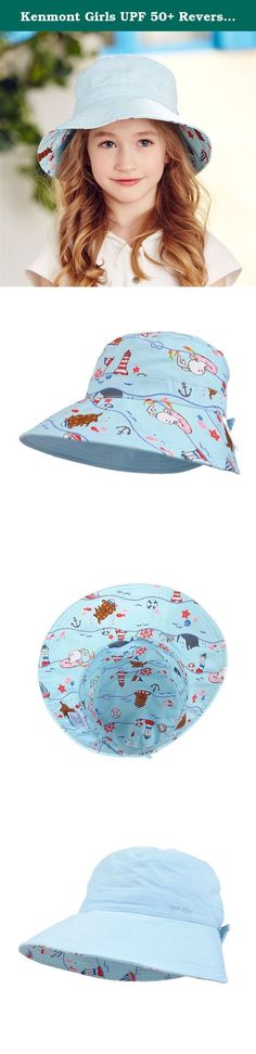 Kenmont Girls UPF 50+ Reversible Bucket Hats Outdoor Cotton Beach Sun Hat || Play Hat, UV Sun Protective, Lightweight (Light Blue). --Brand: Kenmont --Color: light pink, light blue --Size: 53cm(20.87inches)-adjustable velcro button(52-54cm) --Material: --Main Fabric: 100% cotton --Assited fabric: 100% nylon --Brim: 3.35inches / 8.5cm. Crown: 3.54inches / 9cm. --Age: 3-6 ages kids, boys, girls, children --Features: The bucket hats is girls play hat, modern, fitted, fashion hat. Used for...