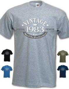 Amazon.com: My Generation Gifts 1983 Vintage Year - 30th Birthday Gift Present T-Shirt Mens Royal Blue XL: Clothing