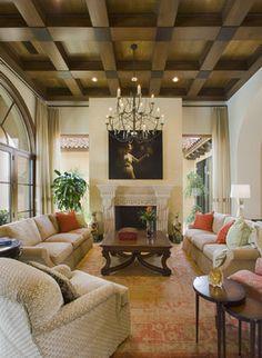 Seven Oaks Showcase - mediterranean - living room - austin - JAUREGUI Architecture Interiors Construction