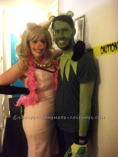 Miss Piggy and Kermit Muppets Couples Costume... Coolest Halloween Costume Contest