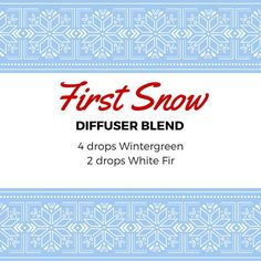 first snow essential oil diffuser blend