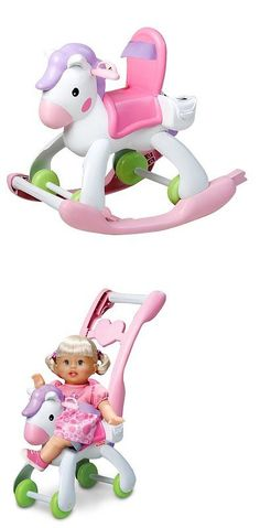 Little People 1963-1996 2527: Fisher Price Rocking Horse And Stroller -> BUY IT NOW ONLY: $31.22 on eBay!